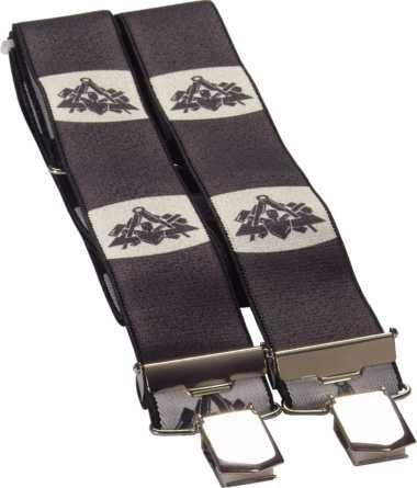 4-Clip-Hosenträger MAURER schwarz, JOB