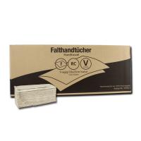 Falthandtuch 1-lagig, grau (RC), V-Falz, 23 x 23 cm, 4600 Blatt / VE