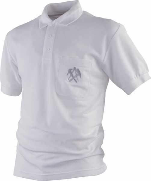 DACHDECKER-T-Shirt weiß mit V-Ausschnitt, JOB