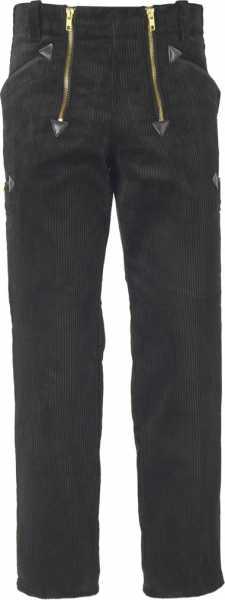 JOB-Zunfthose aus Trenkercord schwarz gerade Form