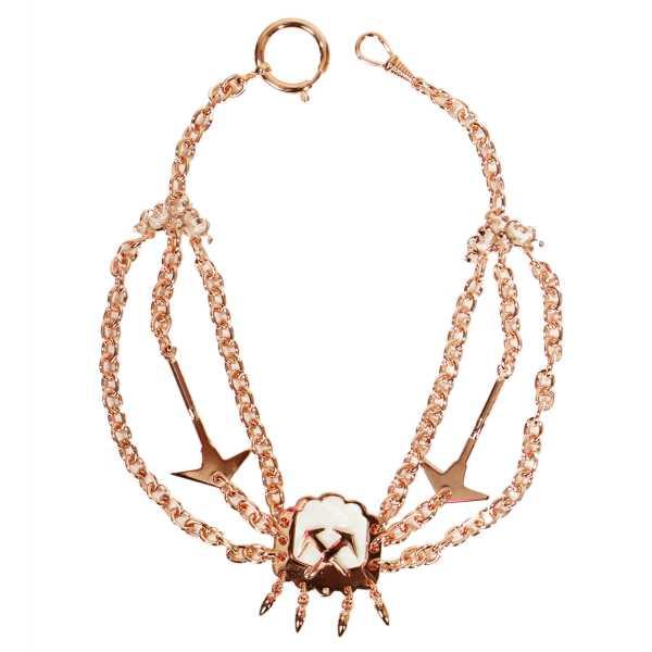 Dachdecker Perlmutterkette - Zunft-Schmuckkette, rose vergoldet