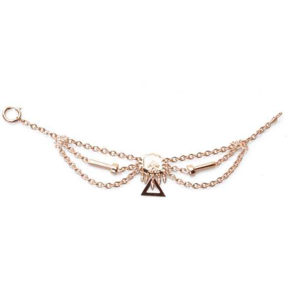 Klempner, Spengler Perlmutterkette - Zunft-Schmuckkette, rose vergoldet