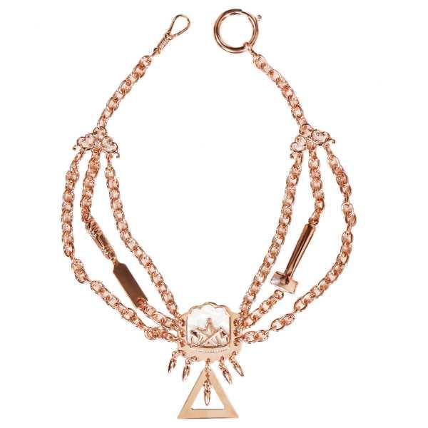 Zimmermann Perlmutterkette - Zunft-Schmuckkette, rose vergoldet