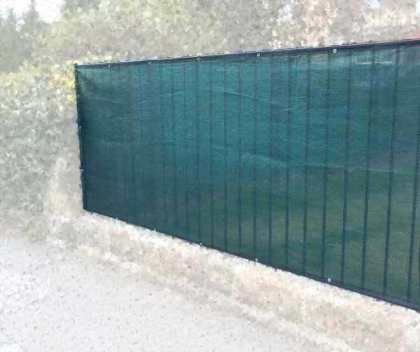 DAKL Sichtschutz und Schattiernetz mit Ösen, geöst, grün