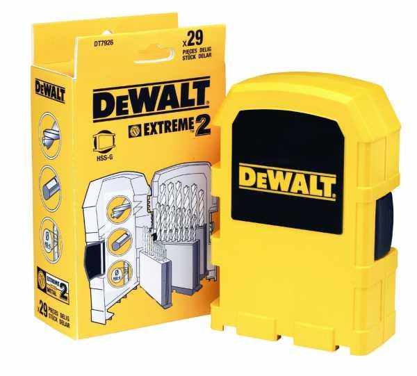 DEWALT Metallbohrer-Set 29-tlg. HSS-G DT7926-XJ