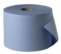 Papierrolle 2-lagig, blau (RC), 2 x 1000 Blatt, 23 x 35 cm, 2 Rollen / VE