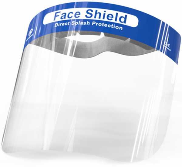 Gesichtsschild transparent, Breite 320 mm, Höhe 220 mm, Stärke 0,3 mm