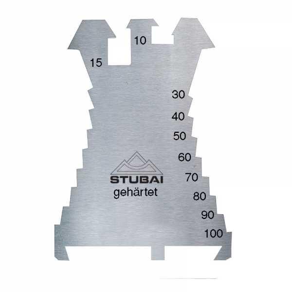 Stubai Anreißschablone Fiechtl 1,3 mm, gehärtet, 140x100 mm