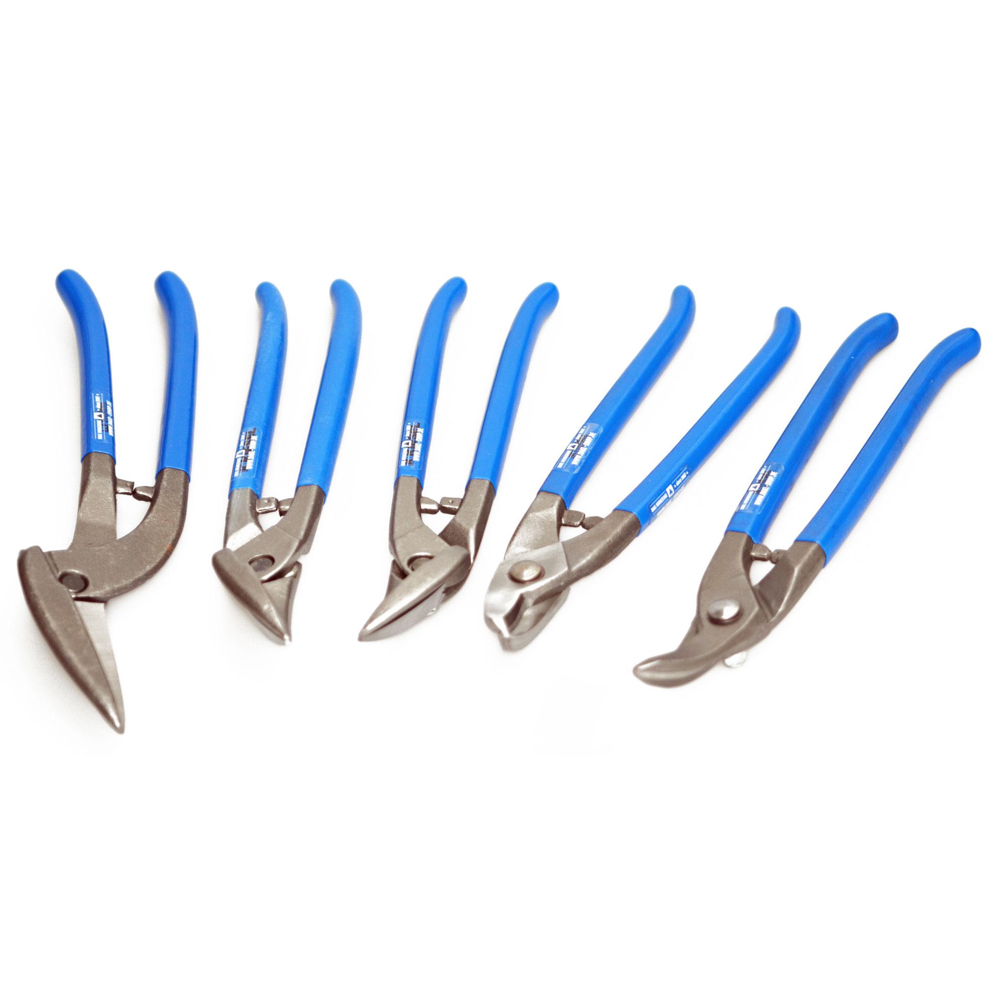 DAKL Profiset Rundlochscheren links und rechts PVC-blau Rundschere