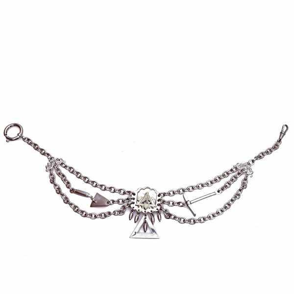 Maurer Perlmutterkette - Zunft-Schmuckkette, vernickelt