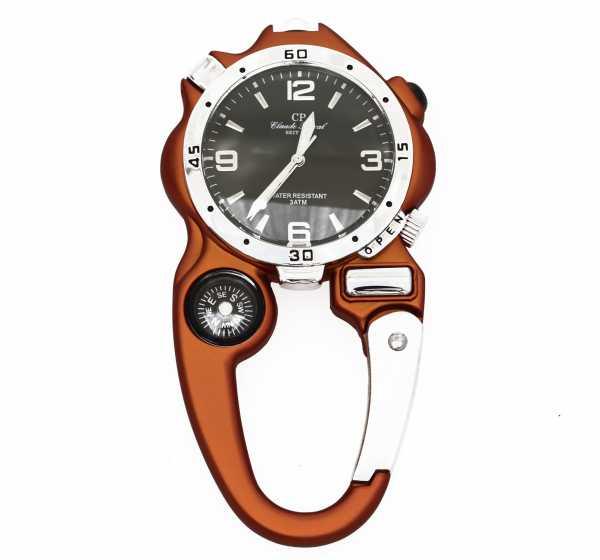Fun Handwerker Uhr mit , LED-Licht, Lupenglas, Kompass und Karabiner