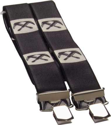4-Clip Hosenträger DACHDECKER schwarz, JOB