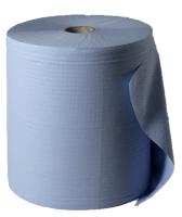 Papierrolle 3-lagig, blau (RC), 1000 Blatt, 36,5 x 35 cm, 1 Rolle / VE