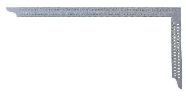 HEDÜ Zimmermannswinkel hedue ZN 700 mm mit mm-Skala Typ A und Anreißlöcher