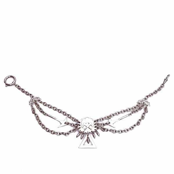Dachdecker Perlmutterkette - Zunft-Schmuckkette, vernickelt