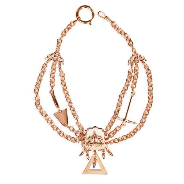 Maurer Perlmutterkette - Zunft-Schmuckkette, rose vergoldet
