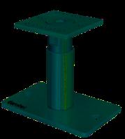 Pfostenträger, PediX 140 + 50 mm Stützenfuß